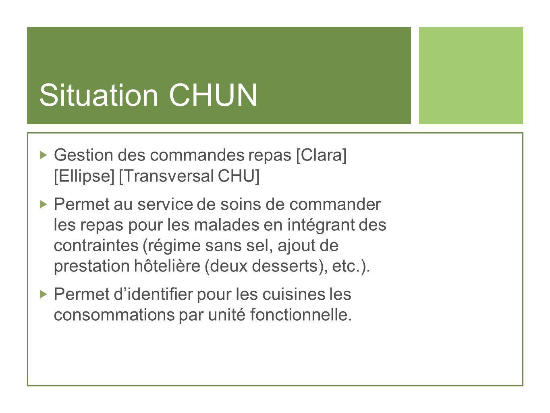 Situation CHUNGestion des commandes repas [Clara] [Ellipse] [Transversal CHU]